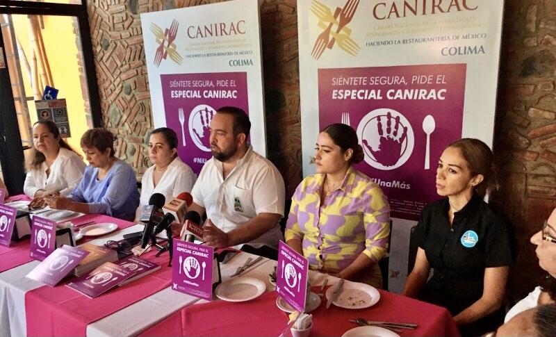 """Pide el """"Especial Canirac"""", para ser apoyada si te amenazan en restaurante."""