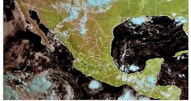 Se esperan lluvias muy fuertes en Nayarit y fuertes en Colima, Jalisco y Michoacán.