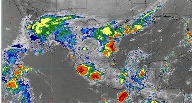 Se pronostican lluvias fuertes para Colima e intensas para 9 estados del país.