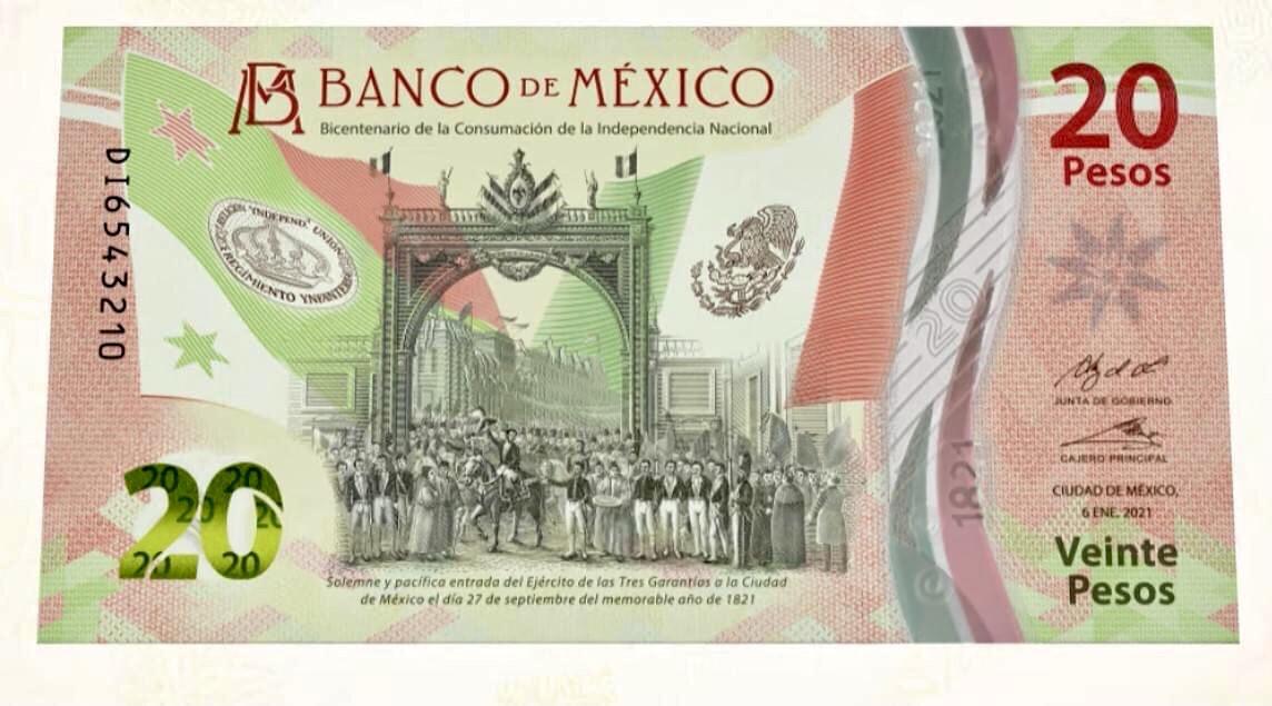 Video/ Lanzan billete de 20 pesos conmemorativo por 200 años de Independencia de México.