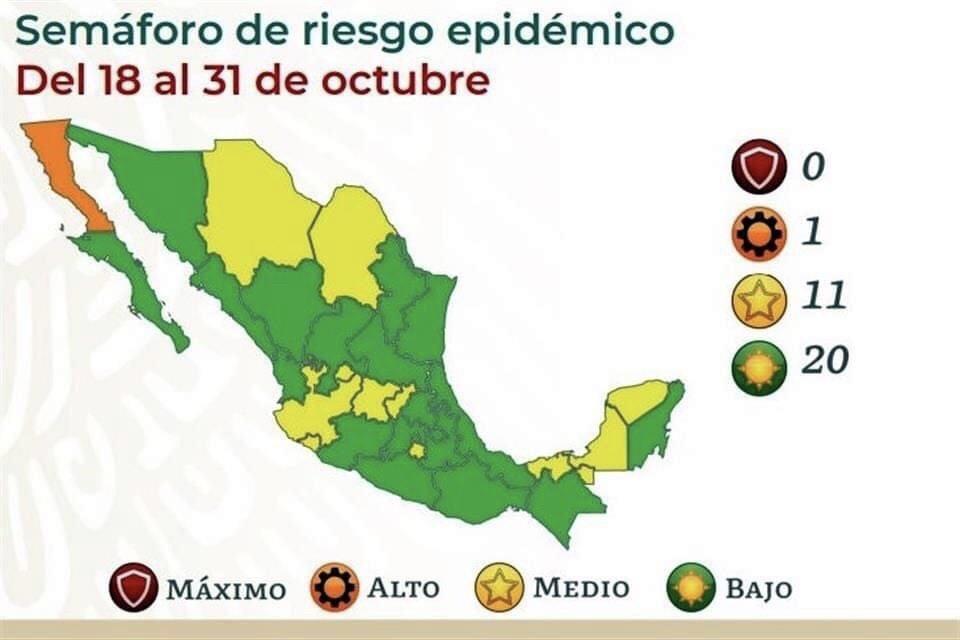 Mantiene Colima el riesgo medio en el Semáforo Epidemiológico Nacional