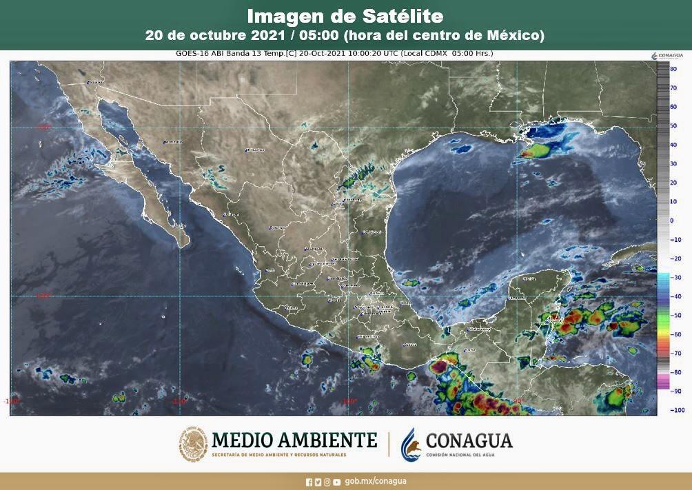 Pronostican intervalos de chubascos para Colima, Jalisco y Michoacán.