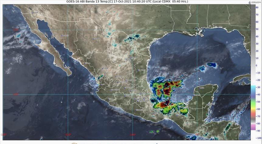 Se pronostican intervalos de chubascos para Colima.